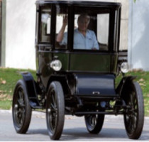 Jay Leno in his 1909 Baker Electric Car