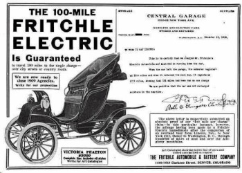 Fritchle Automobile First Electric Car With Mile Range