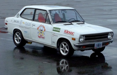 White Zombie Datsun 1200 - Fastest Street Legal Car